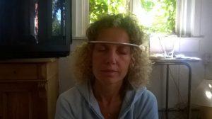 Neutrino relax hoofdbeugel voor de behandeling van stress symptomen