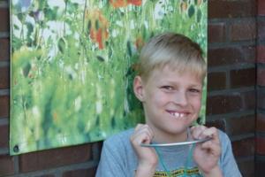 Niels met de ADHD hoofdbeugel